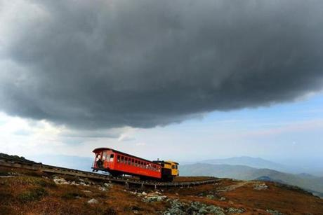A Cog Railway train in September 2015. on the trail Richard Dreselly just crossed.